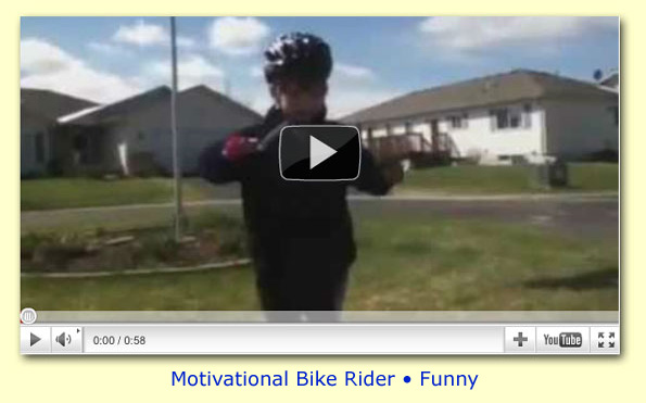 Motivational Child Bike Rider