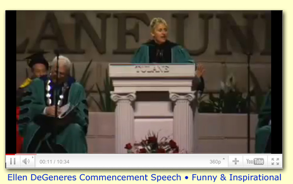 Ellen DeGeneres Commencement Speech at Tulane University